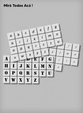 Stencils de Letras